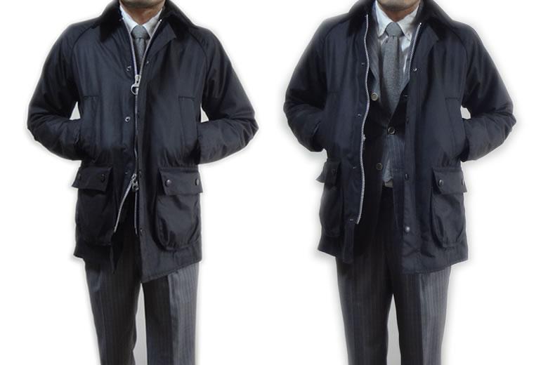 バブアービデイルSLとスーツとコーディネート