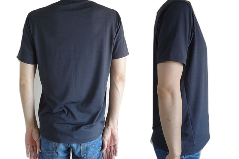 ノースフェイス スーパーハイククルー Tシャツ 後ろと横の姿