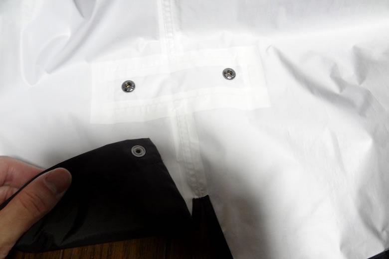 マーモット×ビームス シャワーモッズコート 裾 スナップボタン