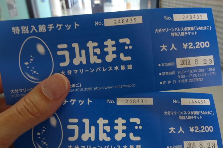 うみたまご 特別 チケット